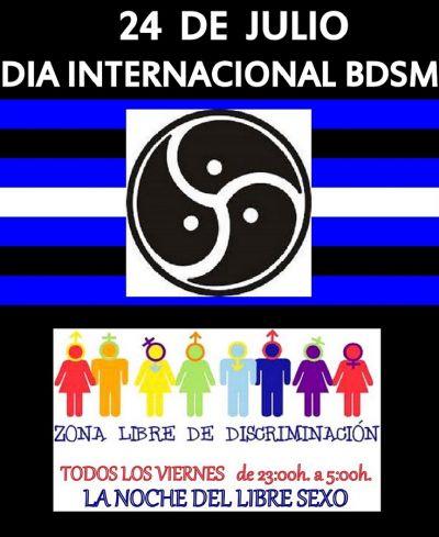 24 DE JULIO DIA INTERNACIONAL DE BDSM - NOCHE DEL LIBRE SEXO