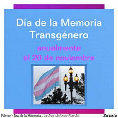 Día de la memoria transgénero: 20/11/2015