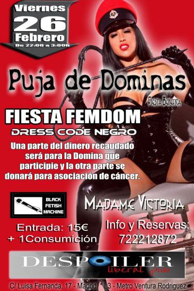 Puja de Dominas, Fiesta FemDom