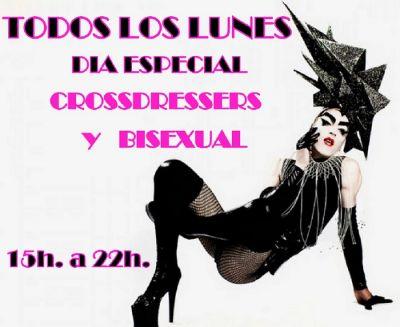 TODOS LOS LUNES DIA BISEX, CD, TRANS Y TRAV. GRATIS CON 1 COPA